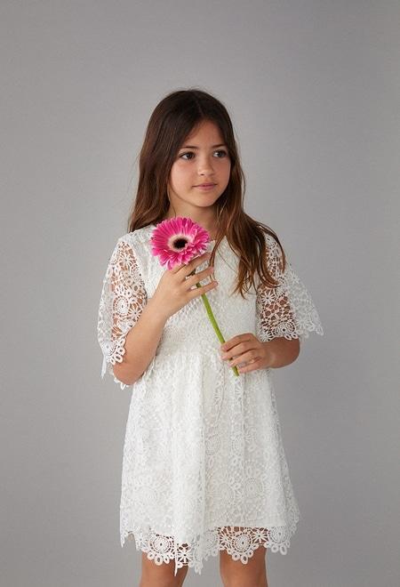 Guipure dress for girl_1