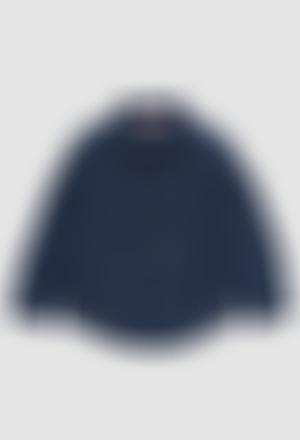 Camisa linho manga comprida para menino