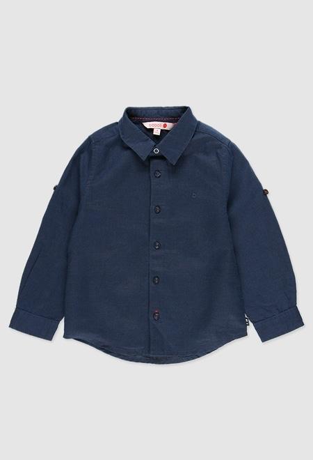 Camisa linho manga comprida para menino_1