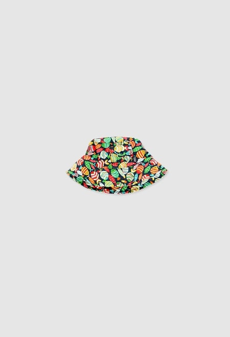 Poplin hat for baby girl_1