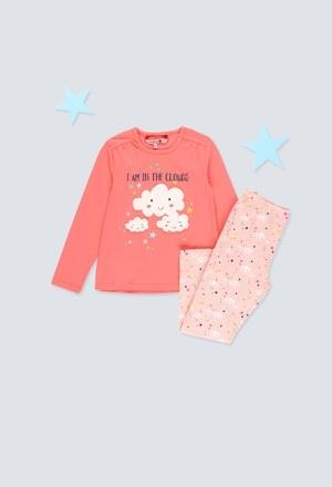 Pijama malha elástica para menina_1