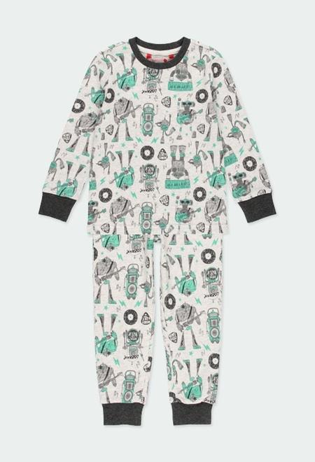 "Interlock pyjamas ""bbl music"" for boy_1"