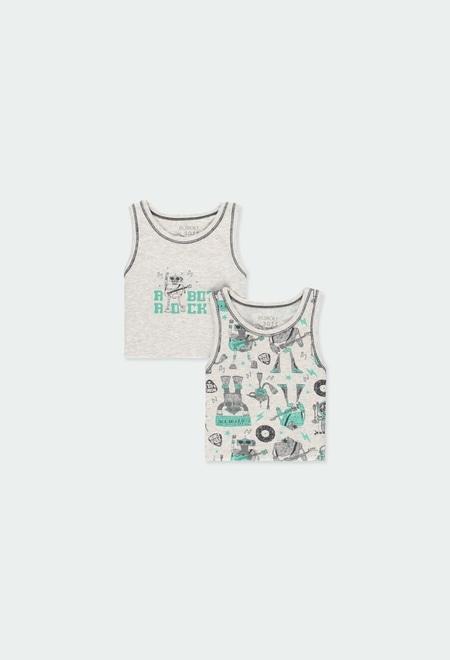 Pack 2 camiseta suspensórios para menino_1